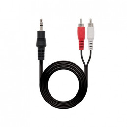 CABLE AUDIO 1XJACK 35 A 2XRCA 15M NANOCABLE