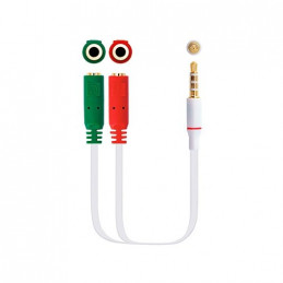 CABLE AUDIO 1XJACK 35 A 2XJACK 35 02M NANOCABLE
