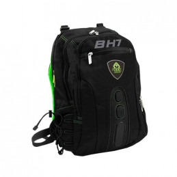 MOCHILA PORTATIL 156 KEEP OUT BK7G NEGRO VERDE ASAS Y RE