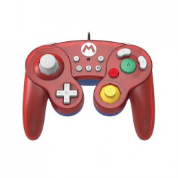 GAMEPAD HORI BATTLE MARIO ROJO Para Nintendo Switch Cablead